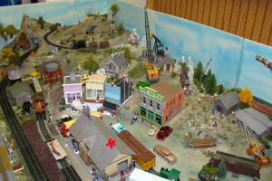 Model Railroad Display in the Depot